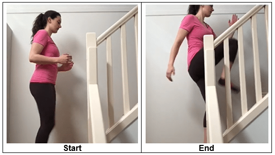 alternating lunge with knee drive