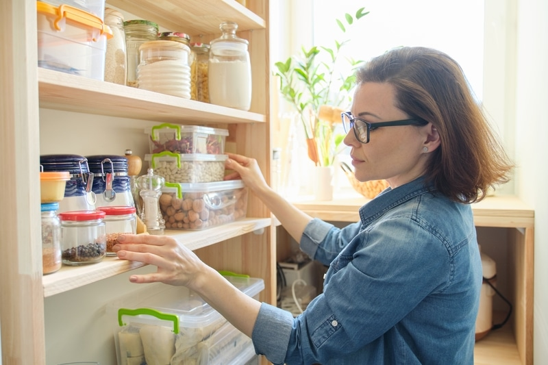 use shelves to get organized