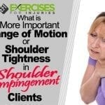 What is More Important Range of Motion or Shoulder Tightness in Shoulder Impingement Clients