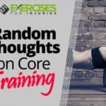 Random Thoughts on Core Training
