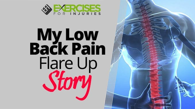 My Low Back Pain Flare Up Story