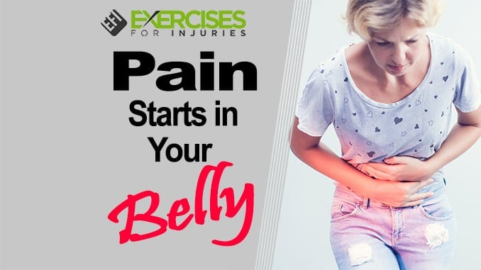 Pain starts in your belly