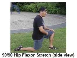 90-90 Hip Flexor Stretch side view
