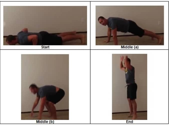 5 Chest to Ground Burpees