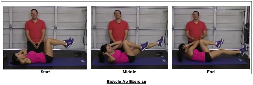 Bicycle Ab Exercise
