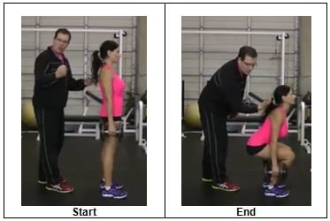 Side view Dumbbell Squat