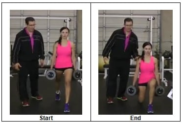 Stationary Dumbbell Lunge