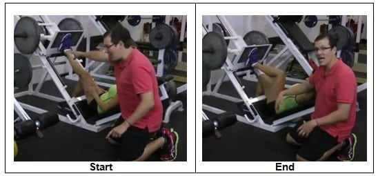 Unilateral Inclined Leg Press