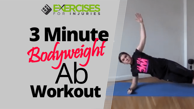 3 Minute Bodyweight Ab Workout
