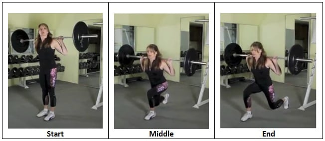 Reverse Lunge (Back Squat Position)