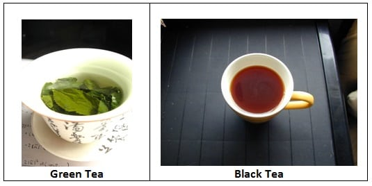 Green and Black Tea