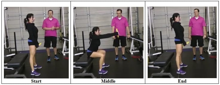 Weight Plate Bench Squat