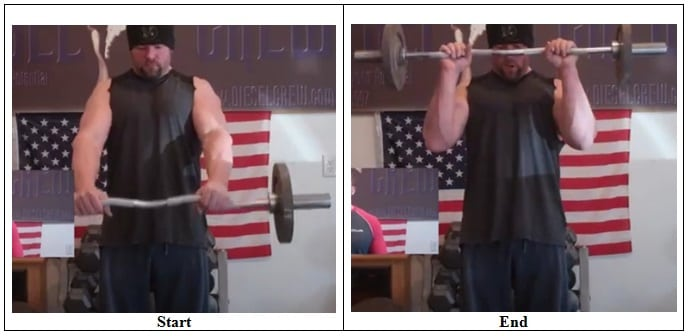 45 Degrees Reverse Curl (Front View)
