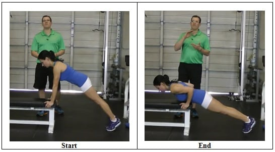 Bench Push Up