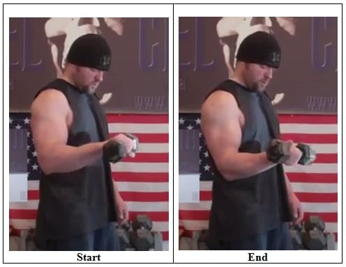 Offset Dumbbell Rotation (Side View)