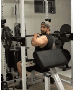 Barbell Power Shoulder Press Step 1