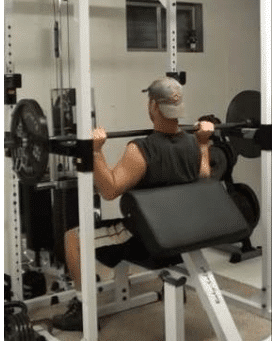 Barbell Power Shoulder Press Step 2