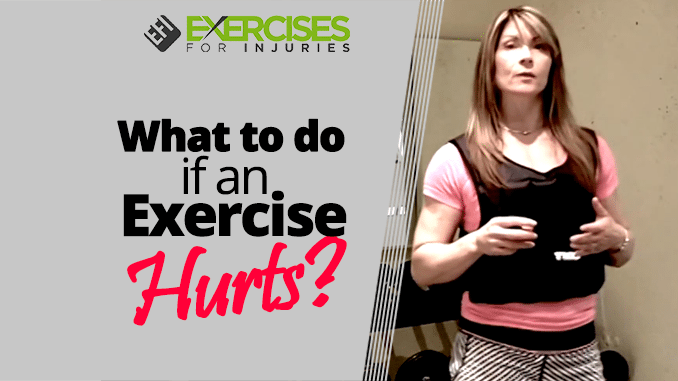 What to do if an Exercise Hurts (1)