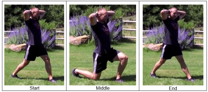 Split Squat Style-Prisoner Variation