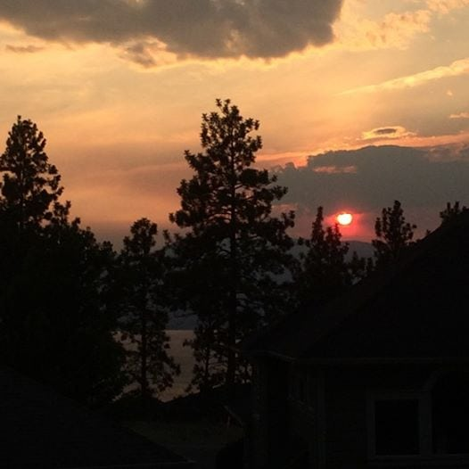 Kelowna-Fire-Sunset