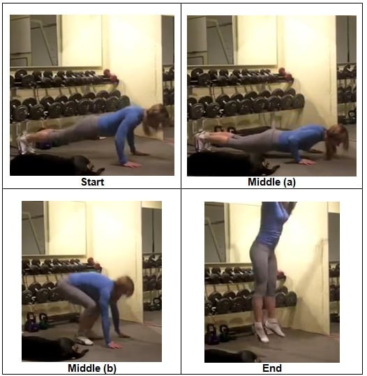 Push Up with Jump Up Burpee