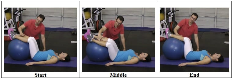 Stability Ball Side to Side Mobility