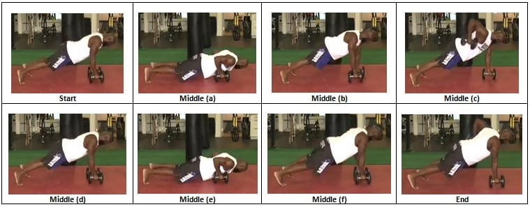 Dumbbell Push Up to Renegade Row