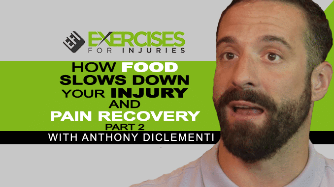 How Food Slows Down Your Injury and Pain Recovery with Anthony DiClementi (Part 2) copy