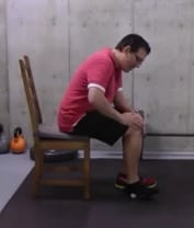 Golf Ball Stretch Focusing on the Heel