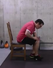 Golf Ball Stretch Sitting Position