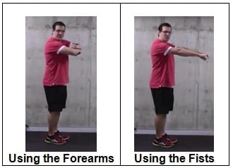 Using the Forearms or the Fists