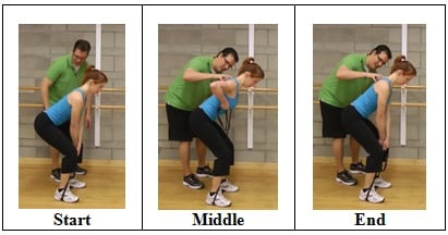 Cross Band Bent Over Row (side view)