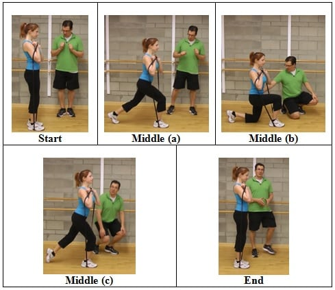 Shoulder Height Band Reverse Lunge