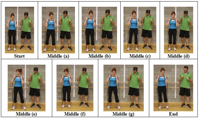 Side Shuffle with Arms Shoulder Height