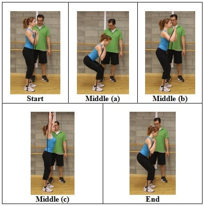 Squat into a Press (side view)