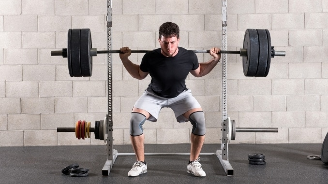 back squat with barbell