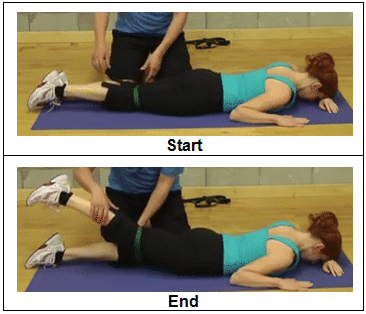 How to do Prone Hip Extension with Resistive Band -regular