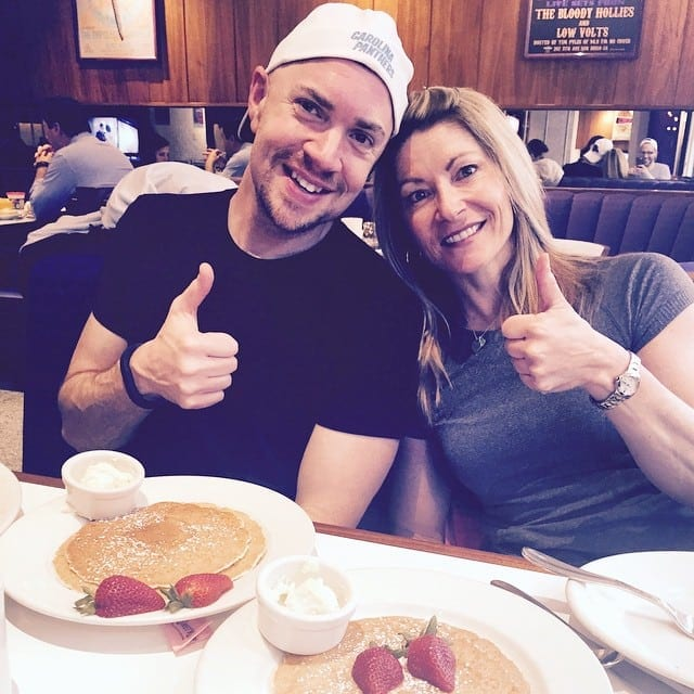 Mike Whitfield and Shawna Kaminski Eating Pancakes