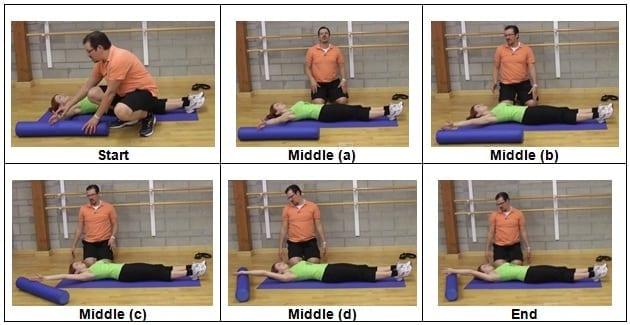 Isometrics into a Foam Roller Exercise