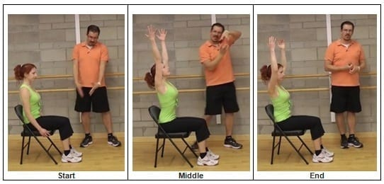 Seated Reaching for the Sky exercise