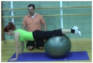 Stability Ball Plank (Level 1)