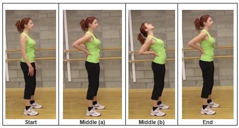 Standing Back Extension Exercise