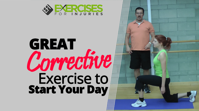 GREAT Corrective Exercise to Start Your Day