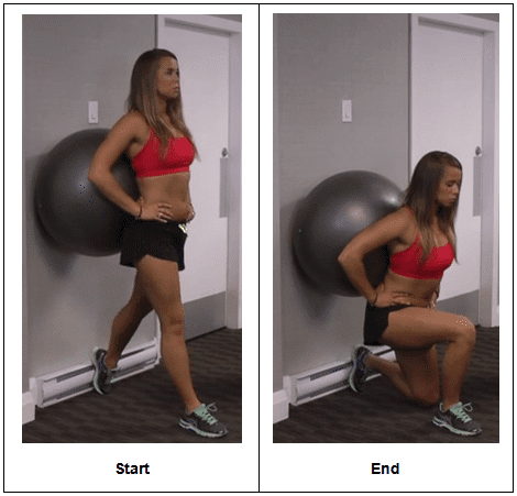 Single Leg Stability Ball Wall Squat
