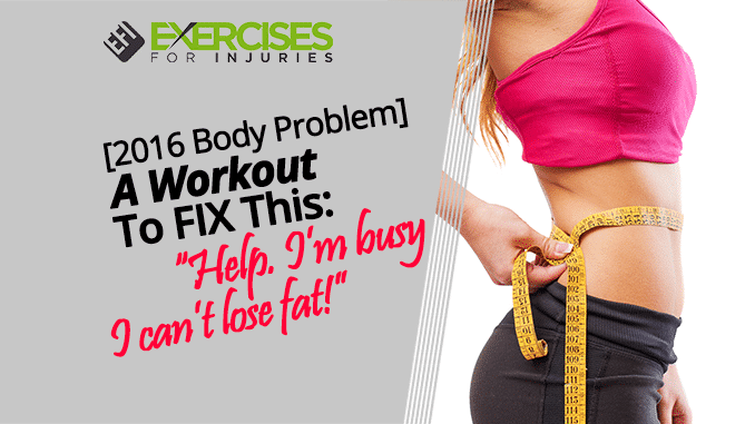 A Workout To FIX This- Help. Im busy I cant lose fat!