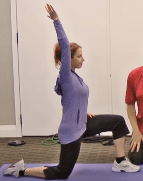 90-90 Hip Flexor Stretch With Arm