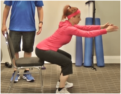 Start the squat movement with your hip