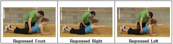 Single-arm Planks From the Knees (Regressed)