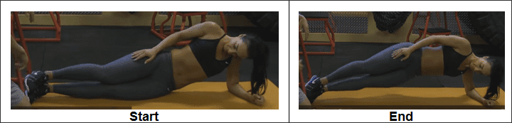 Elbow Side Plank With Hip Drop