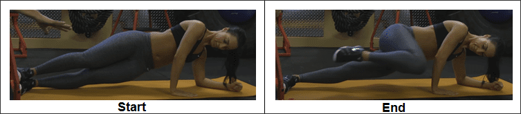Hand Side Plank with Knee Tuck (Beginner)